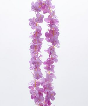 "Decostar Artificial Flower Garland 80"" - 24 Pieces - Lavender"