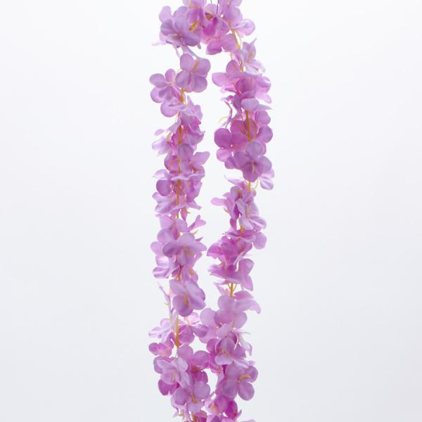 """Decostar Artificial Flower Garland 80"""" - 24 Pieces - Lavender"""