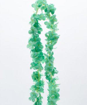 """Decostar Artificial Flower Garland 80"""" - 24 Pieces - Mint"""