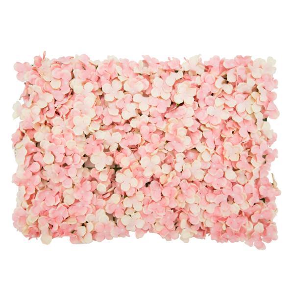 """Decostar Artificial Flower Mat 24"""" - 12 Pieces - Blush"""