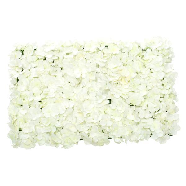 """Decostar Artificial Flower Mat 24"""" - 12 Pieces - Ivory"""