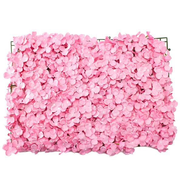 """Decostar Artificial Flower Mat 24"""" - 12 Pieces - Pink"""