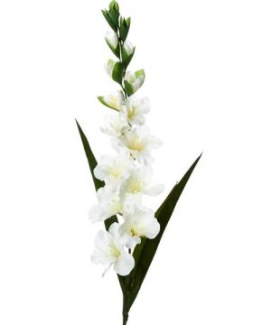 "Decostar Artificial Gladiolus Flower 46"" - 12 Pieces - Cream"
