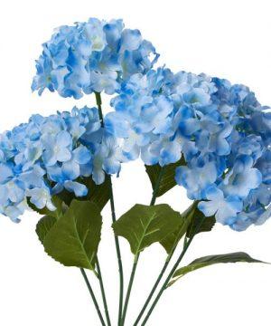 "Decostar Artificial Hydrangea Bouquet 22½"" - 24 Pieces - Blue"