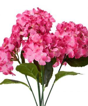 "Decostar Artificial Hydrangea Bouquet 22½"" - 24 Pieces - Fuchsia"