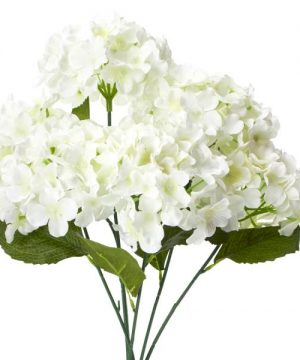 "Decostar Artificial Hydrangea Bouquet 22½"" - 24 Pieces - Ivory"