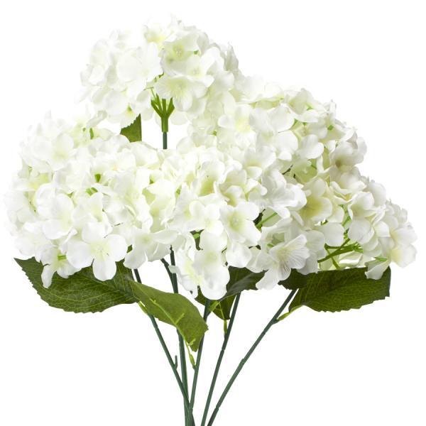 "Decostar Artificial Hydrangea Bouquet 22½"" - 24 Pieces - Ivory"