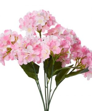 "Decostar Artificial Hydrangea Bouquet 22½"" - 24 Pieces - Pink"