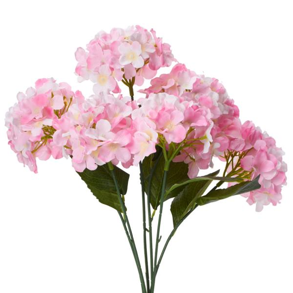"Decostar Artificial Hydrangea Bouquet 22½"" - 24 Pieces - Pink"