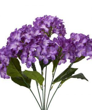 "Decostar Artificial Hydrangea Bouquet 22½"" - 24 Pieces - Purple"