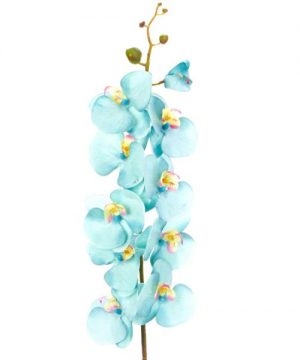 """Decostar Artificial Orchid 44"""" - 6 Pieces - Turquoise"""