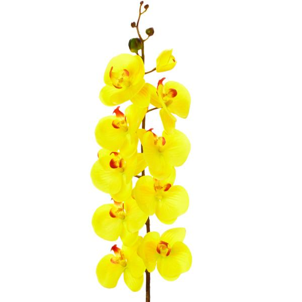 """Decostar Artificial Orchid 44"""" - 6 Pieces - Yellow"""