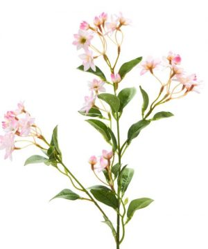 "Decostar Artificial flower Branch 6¼ x 25"" - 36 Pieces - Pink"