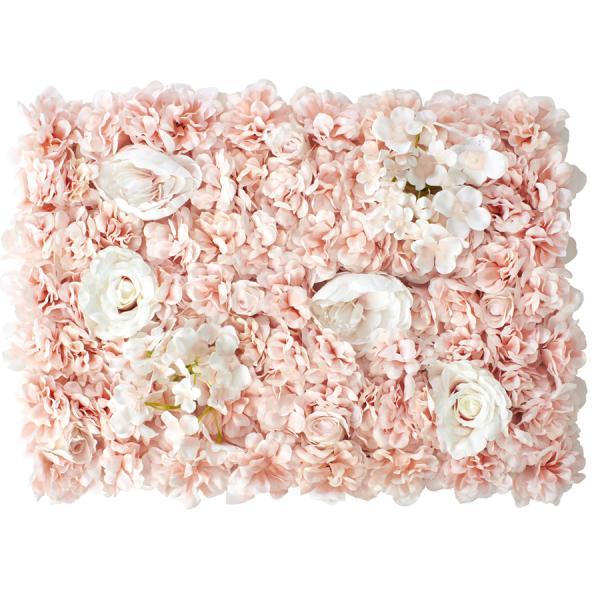 Decostar Blush Artificial Mixed Flower Mat - 12 Mats