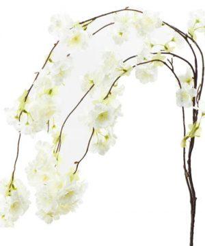 "Decostar Cherry Blossom Spray 56"" - 24 Pieces - White"