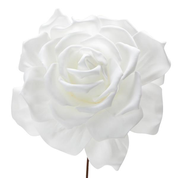 "Decostar Foam Rose 10"" - White"