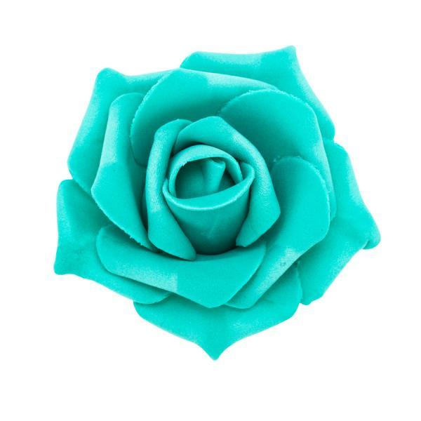 "Decostar Foam Rose 2"" - 12 Roses - Aqua"