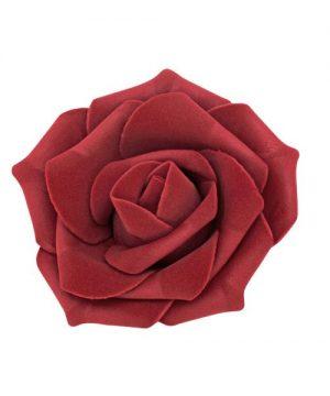 "Decostar Foam Rose 2"" - 12 Roses - Burgundy"