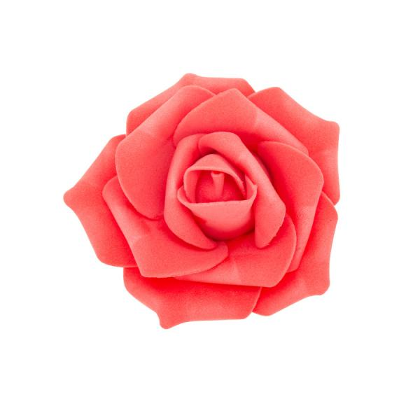 "Decostar Foam Rose 2"" - 12 Roses - Coral"
