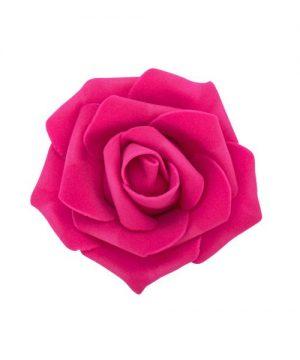 "Decostar Foam Rose 2"" - 12 Roses - Fuchsia"
