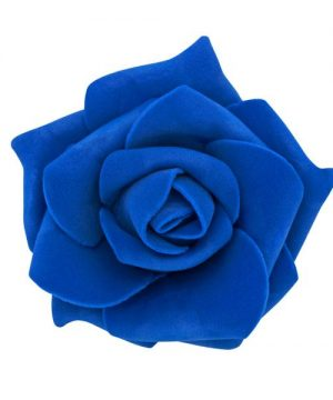 "Decostar Foam Rose 2"" - 12 Roses - Royal Blue"