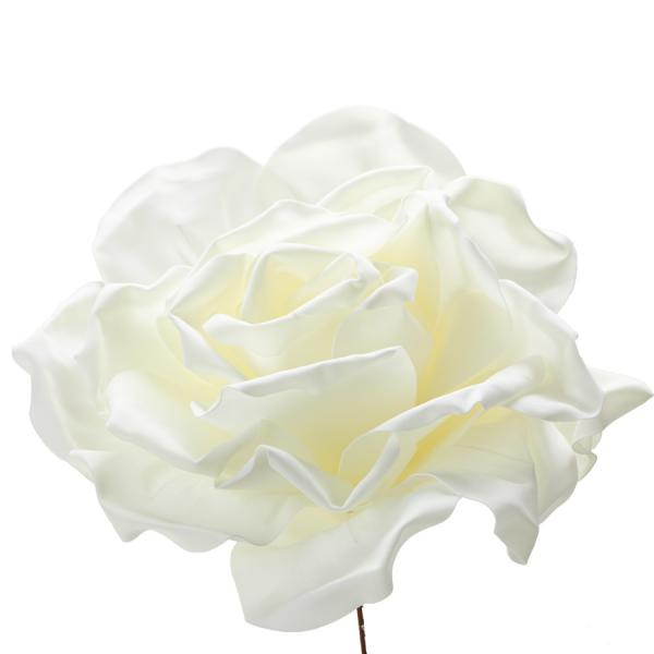 """Decostar Foam Rose 20"""" - Ivory"""