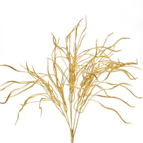 """Decostar Glitter Flat Leaf Spray 22"""" - Gold - 48 Pieces"""