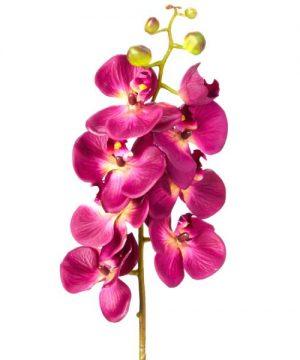 "Decostar Phalaenopsis Faux Orchid Spray 30¾"" - 12 Pieces - Plum"