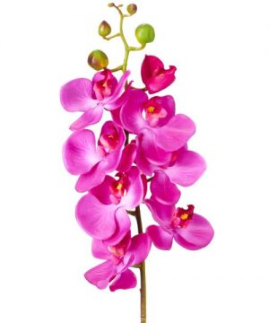 "Decostar Phalaenopsis Faux Orchid Spray 30¾"" - 12 Pieces - Purple"