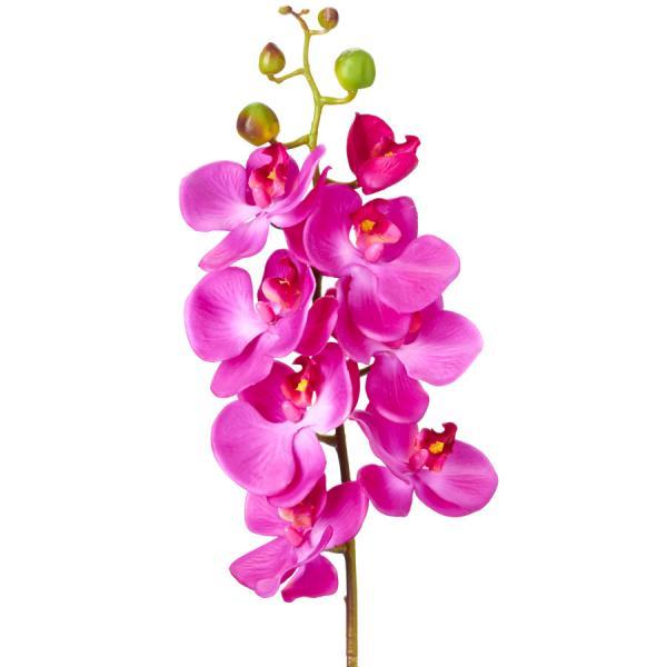 "Decostar Phalaenopsis Faux Orchid Spray 30¾"" - 12 Pieces - Purple"