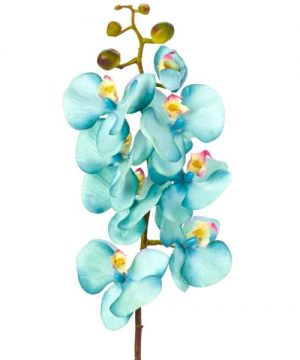 "Decostar Phalaenopsis Faux Orchid Spray 30¾"" - 12 Pieces - Turquoise"