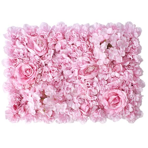 Decostar Pink Artificial Mixed Flower Mat - 12 Mats