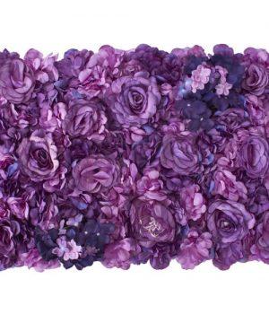 Decostar Purple Artificial Mixed Flower Mat - 12 Mats