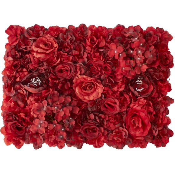 Decostar Red Artificial Mixed Flower Mat - 12 Mats
