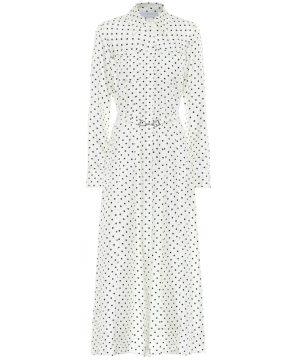 Descartes silk-twill dress