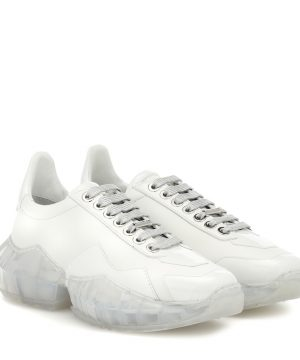 Diamond/F leather sneakers