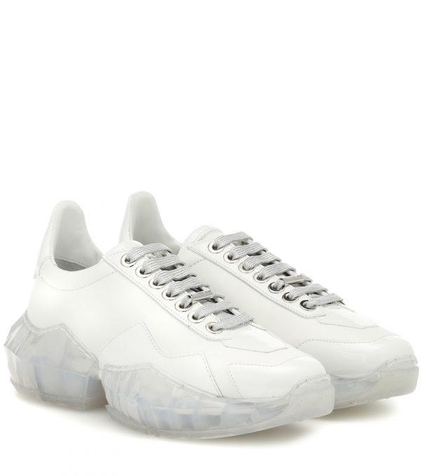 Diamond/F leather sneakers