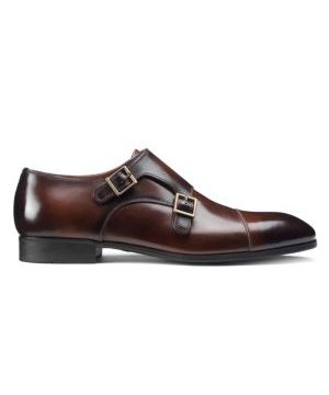 Double Buckle Leather Dress Shoes