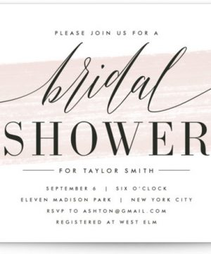 Effervescent Bridal Shower Invitations