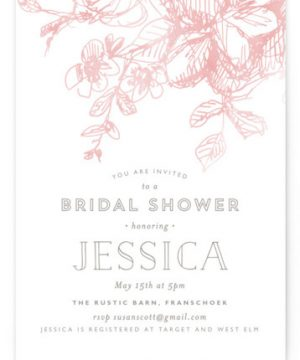 Elegance Illustrated Bridal Shower Invitations