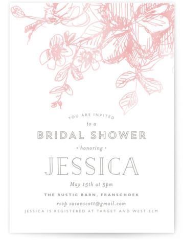 Elegance Illustrated Bridal Shower Invitations