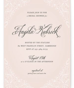 Elegant Lace Bridal Shower Invitations