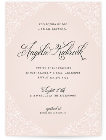 Elegant Lace Bridal Shower Invitations