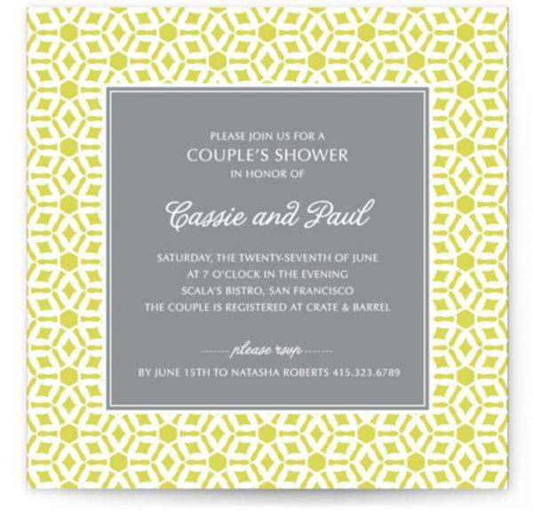 Elegantly Simple Bridal Shower Invitations