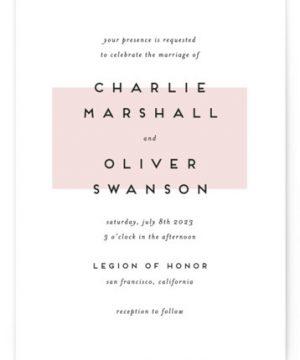 Elementary Wedding Invitations