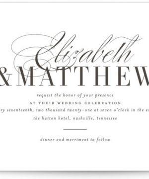 Eloquence Letterpress Wedding Invitations