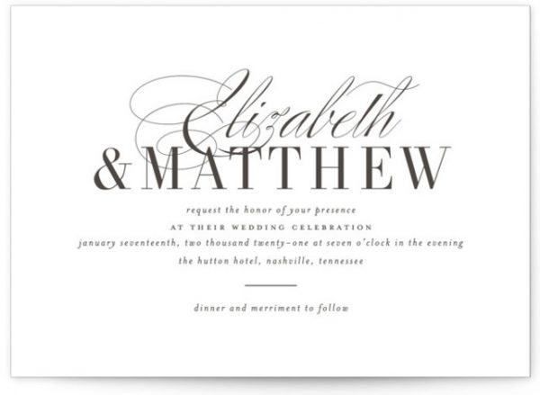 Eloquence Letterpress Wedding Invitations