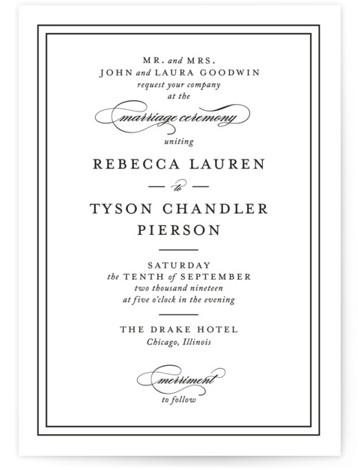 Eloquence Wedding Invitations