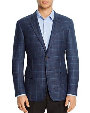 Emporio Armani Plaid Regular Fit Blazer