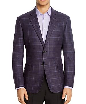 Emporio Armani Windowpane Regular Fit Blazer